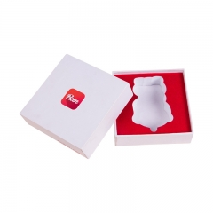 White Cardboard Gift Boxes With Logo Print